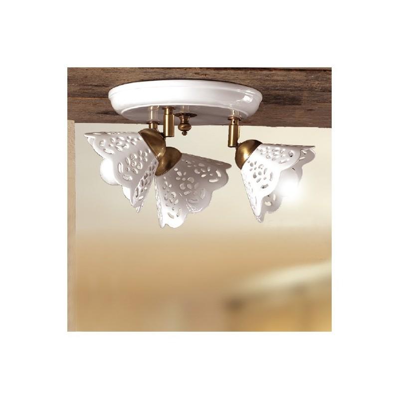 Plafoniera lampada da soffitto a tre luci con piatto in - Plafoniere da soffitto ikea ...