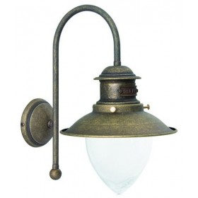 Applique lampada da parete in ottone e paralume in ceramica bianca ...
