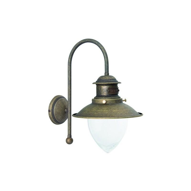 Applique lampade da muro in ottone anticato vintage for Applique da muro