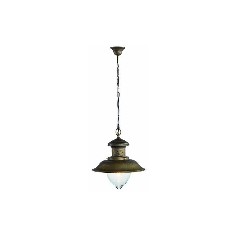 lampadario stile rustico : Lampadario ottone anticato stile vintage rustico retr? - VARIE MISURE ...