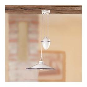Le lustre, les hauts et les bas d'une céramique contrepoids plat et lisse de style vintage - Ø 43 cm