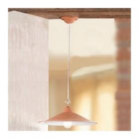 Le lustre dans le pot en terre cuite-lisse, rustique-country - Ø 43 cm