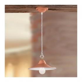 Le lustre dans le pot en terre cuite-lisse, rustique-country - Ø 28 cm