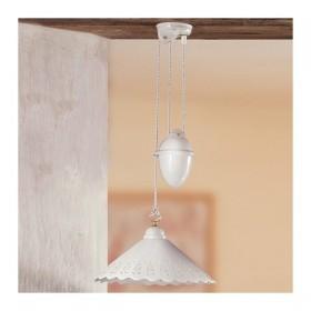 Le lustre, les hauts et les bas d'une céramique contrepoids plat et lisse perforé - Ø 30 cm