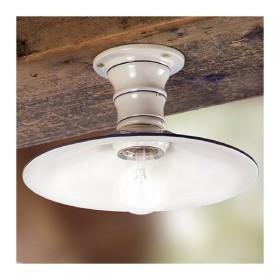Lampe de plafond en céramique de campagne rustique rétro - Ø 28 cm