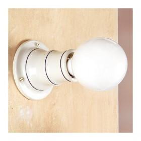 Apliques de pared, lámpara de cerámica rústica país retro - h. cm.10