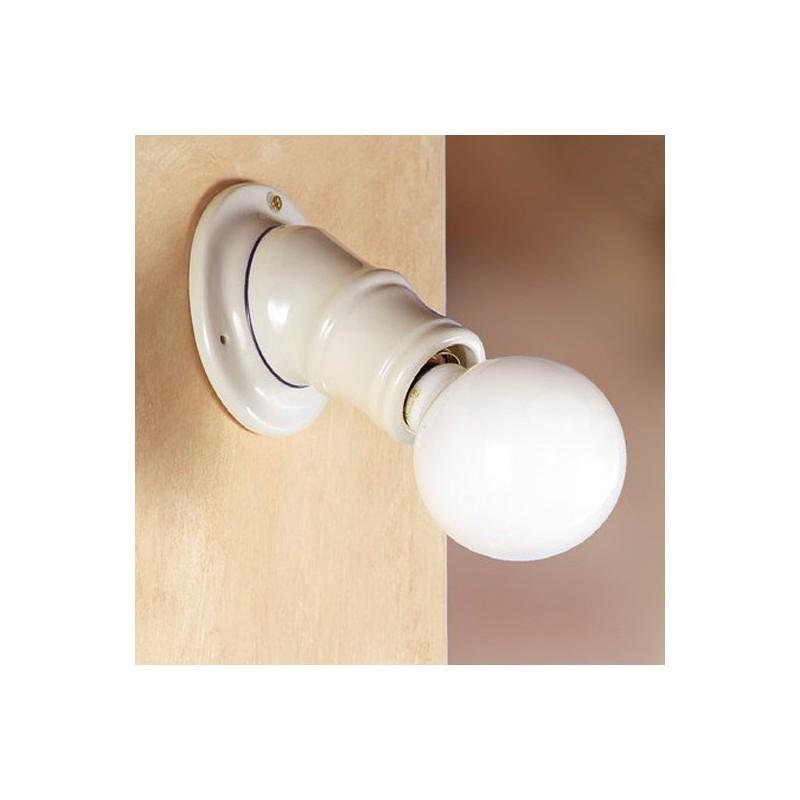 Applique lampada da parete in ceramica rustica country retrò - Ø 11 ...