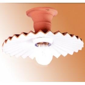 Lampe de plafond en terre cuite, de campagne rustique rétro - Ø 28 cm