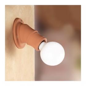 Applique lampada da parete in cotto rustica country retrò - Ø 11 cm