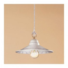 Le lustre de la plaque de céramique, des bords lisses ornés rustique-country – Ø 28 cm