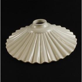 _MG_6866 - Piatto paralume ondulato in ceramica per lampadario classico rustico country - VARIE MISURE