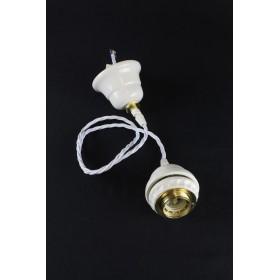 Supporto pendel cavo a treccia portalampada per lampadario a sospensione