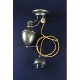 Saliscendi contrappeso in ottone rustico vintage stile retro
