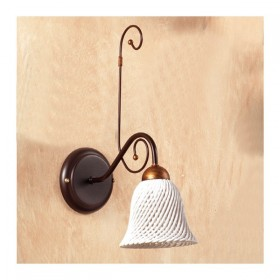 Wandleuchte wandleuchte mit diffusor keramik-glocke mit spaghetti retro-country – Ø 14 cm