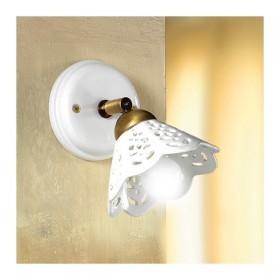 Appliques lampe de mur en céramique perforée et rustique, pays – Ø 14 cm