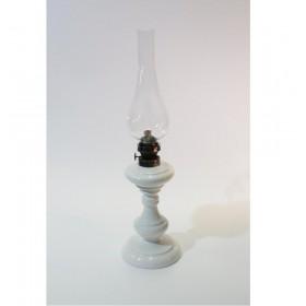 Lampada lume a petrolio bianco in ceramica