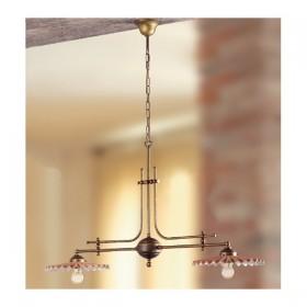 Lampe unruh-2 lichter-messing mit gerichte gekocht ggü vintage-country – Ø 108 cm
