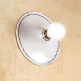 Wandleuchte wand-lampe aus keramik mit teller dekoriert mit rustikalen country-retro – Ø cm.30