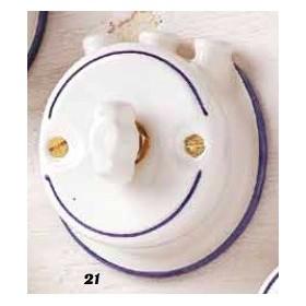 Schalter umsteller keramik-schmetterling mit pipe landhausstil vintage