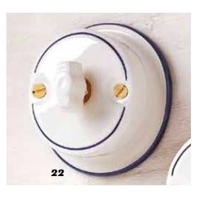 L'interrupteur de la soupape de dérivation de la céramique papillon rustique vintage pays