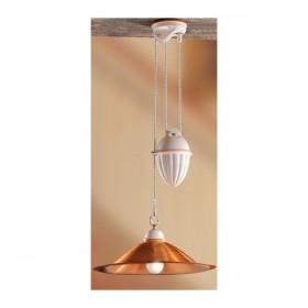 Araña de arriba y abajo, con contrapeso y la placa de cobre pulido, lacado – Ø 40 cm