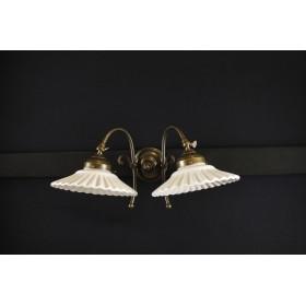 _MG_6926 Apliques en bronce con 2 luces regulables con placas de cerámica