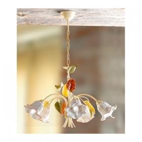 Lampe à Suspension 5 lumières en céramique perforée vintage rétro – Ø 60 cm