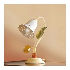 Lampe de Table avec diffuseur en céramique en forme de cloche perforé rétro-pays – h. 32 cm