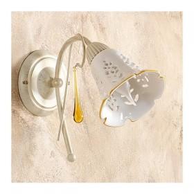Wandleuchte wandleuchte mit 1 licht mit diffusor keramik-perforiertes retro-country – h. 24 cm