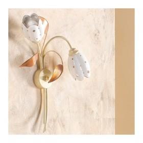 Wandleuchte wandleuchte mit 1 licht mit diffusor aus keramik, tulpe, retro-country – h. 50 cm