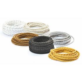 Câble tressé en tissu coloré pour électrique vintage vintage