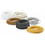 Cable de alambre trenzado de tela de colores eléctricos vintage vintage