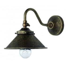 Aplique murale lampe en laiton antique-bruni