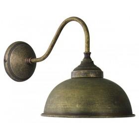 Mur de lumière dans la cloche de laiton antique-bruni, style vintage