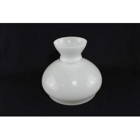 Paralume opalina BOMBATO bianco campana vetro di ricambio per lampada lampadario - VARIE MISURE