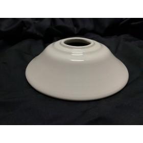 Paralume in ceramica bianca con curvatura