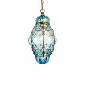 Luzern laterne Venezianische riviera mundgeblasenem glas in einem käfig aus eisen